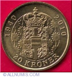 20 Kroner 2010 - 70 Birthday of Queen Margarethe II