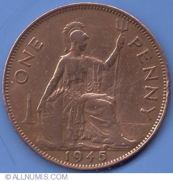 Penny 1945, George VI (1936-1952) - Great Britain - Coin - 10081