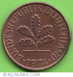 Image #2 of 2 Pfennig 1974 D