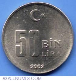 Image #2 of 50000 Lira 2002