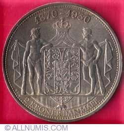 Image #2 of 2 Kroner 1930 - Kings 60th Birthday