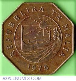 Imaginea #1 a 25 Centi 1975 - Aniversarea de 1 an al Republicii Malta
