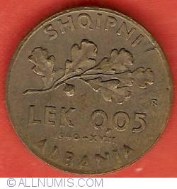 Image #2 of 0,05 Lek 1940