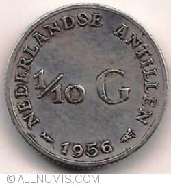 Imaginea #2 a 1/10 Gulden 1956