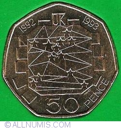 Imaginea #1 a 50 Pence 1992 - Presedintia britanica in Consiliul European al Ministrilor