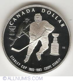 Image #2 of 1 Dollar 1993 - Stanley Cup - Hockey