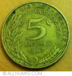 Image #2 of 5 Centimes 1967
