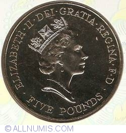 5 Pounds 1996 - 70th anniversary of Queen Elizabeth II