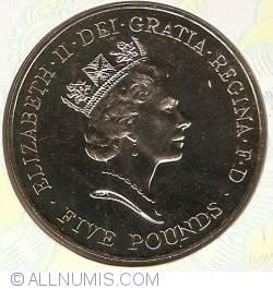 Image #2 of 5 Pounds 1996 - Aniversarea a 70 de ani a reginei Elisabeta a II-a