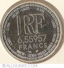Image #1 of 6.55957 Francs (1 Euro) 1999
