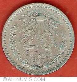 Image #2 of 20 Centavos 1907 (straight 7)