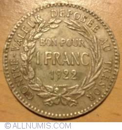 Image #2 of 1 Franc 1922