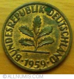 Image #2 of 2 Pfennig 1959 F