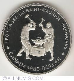 Image #2 of 1 Dollar 1988 - Saint Maurice Ironworks