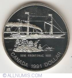 Image #2 of 1 Dollar 1991 - P.S. Frontenac