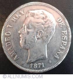 Image #1 of 5 Pesetas 1871 (73) DE-M