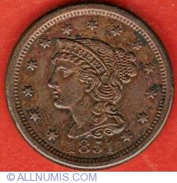 Image #1 of Braided Hair Cent 1851