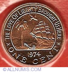 Image #2 of 1 Cent 1974