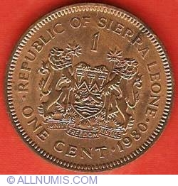 Image #2 of 1 Cent 1980