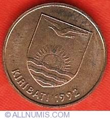 Frigate bird 1992 Kiribati 1 cent animal wildlife coin