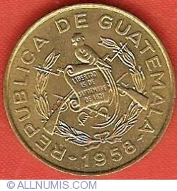 Image #1 of 1 Centavo 1958