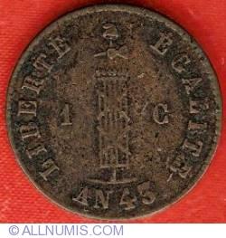 Imaginea #2 a 1 Centime 1846 (AN43)