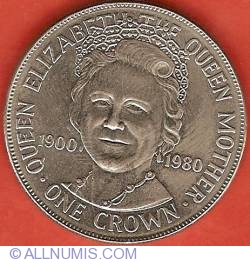 Image #2 of 1 Crown 1980 - 80th Anniversary of Elizabeth the Queen Mother