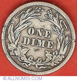 Image #2 of Barber Dime 1910
