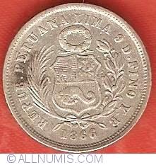 Image #1 of 1 Dinero 1866