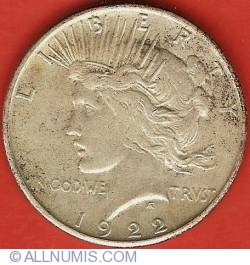 Image #1 of Peace Dollar 1922 S
