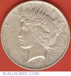 Image #2 of Peace Dollar 1923 D