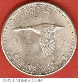 Image #2 of 1 Dollar 1967 - Confederation Centennial