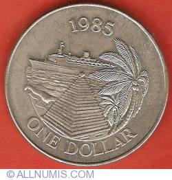 1 Dolar 1985 - Turism cu nave de croaziere