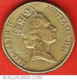 Image #2 of 1 Dollar 1986 - International Year of Peace