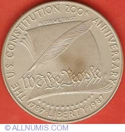 Image #2 of 1 Dollar 1987 P  - 200th Anniversary of the Constitution
