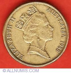 Image #2 of 1 Dollar 1988 - First Fleet Bicentenary