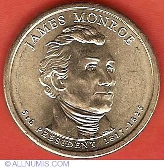 2008 P/&D James Monroe $1 Presidential Golden Dollar Coin Set