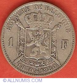 Image #1 of 1 Franc 1880 - 50th Anniversary of Independence