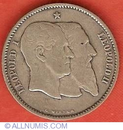 Image #2 of 1 Franc 1880 - 50th Anniversary of Independence