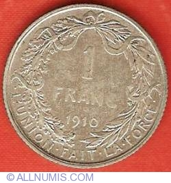 Image #2 of 1 Franc 1910 (French)
