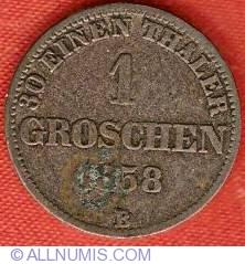Image #2 of 1 Groschen 1858