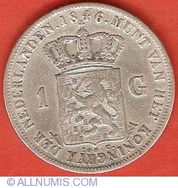 Image #2 of 1 Gulden (100 Cents) 1846 (sword)