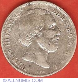 Image #1 of 1 Gulden (100 Cents) 1858