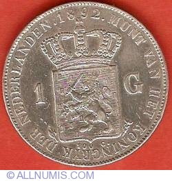 Image #2 of 1 Gulden (100 Cents) 1892