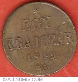 Imaginea #2 a 1 Krajczar 1849