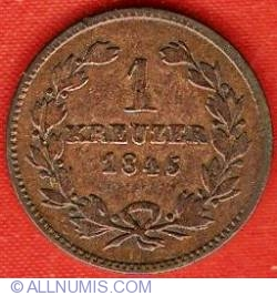 Image #2 of 1 Kreuzer 1845