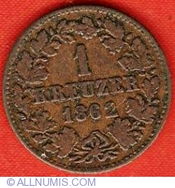 Image #2 of 1 Kreuzer 1862