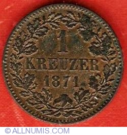 Image #2 of 1 Kreuzer 1871