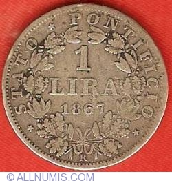 Imaginea #2 a 1 Lira 1867 (XXII)