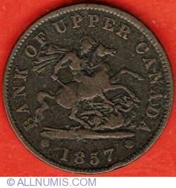 Image #1 of 1 Penny 1857 - Bank Token